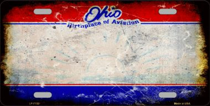 Ohio State Background Rusty Novelty Wholesale Metal License Plate