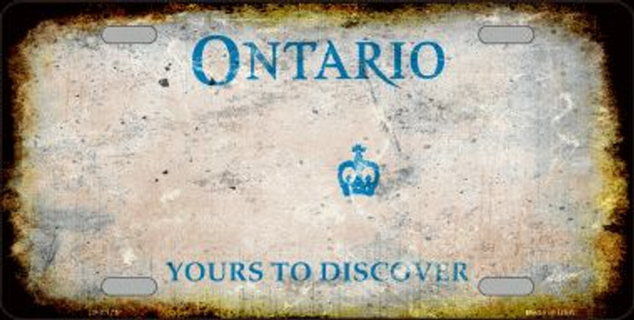 Ontario Canada Background Rusty Novelty Wholesale Metal License Plate