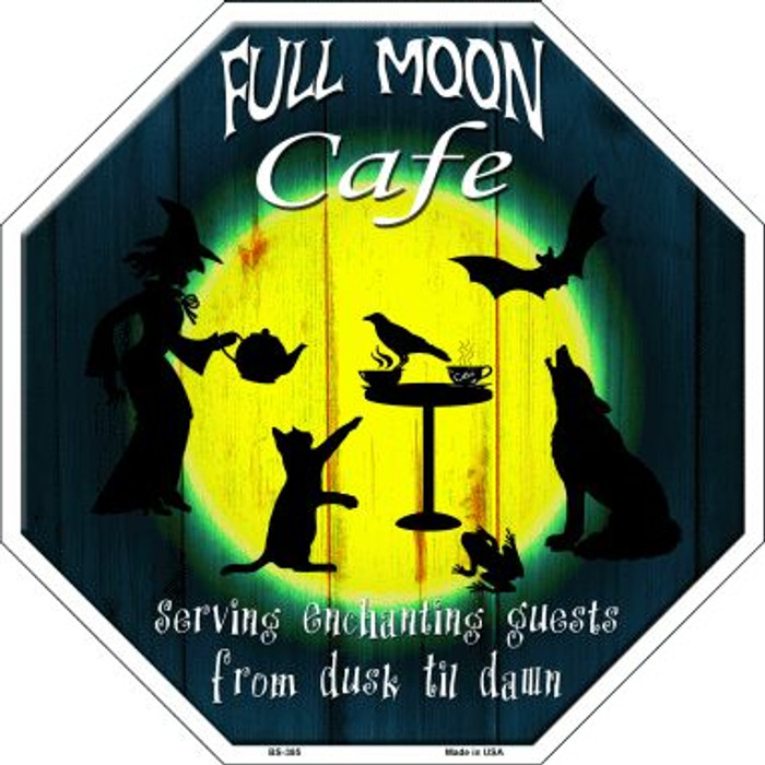 Full Moon Cafe Wholesale Metal Novelty Stop Sign