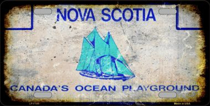 Nova Scotia Background Rusty Novelty Wholesale Metal License Plate