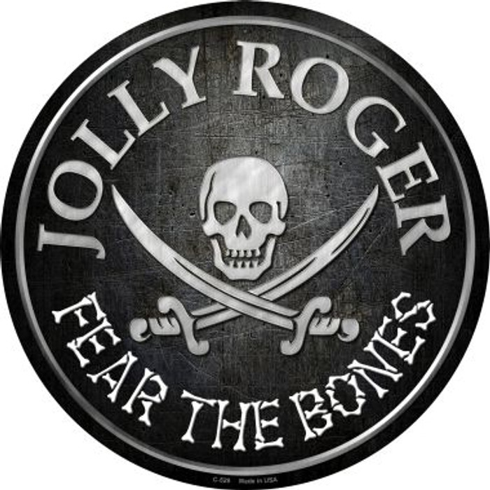 Fear The Bones Wholesale Novelty Metal Circular Sign