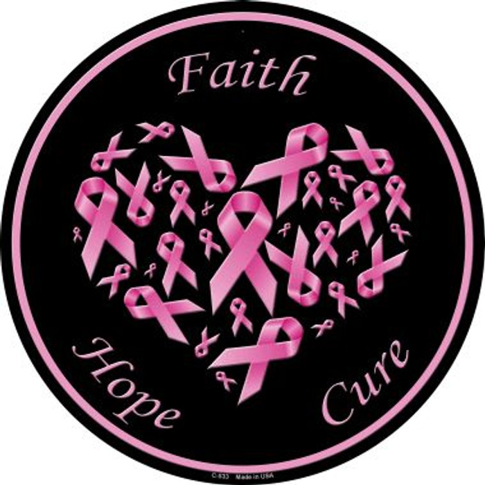Faith Hope Cure Wholesale Novelty Metal Circular Sign