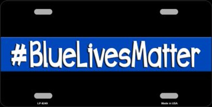 Blue Lives Matter Black Novelty Wholesale Metal License Plate