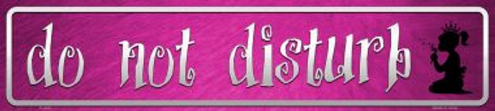 Do Not Disturb Pink Wholesale Novelty Metal Mini Street Sign