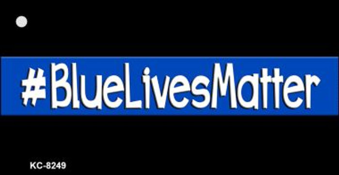 Blue Lives Matter Black Wholesale Novelty Key Chain
