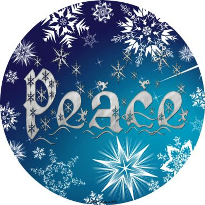 Peace Wholesale Novelty Metal Circular Sign