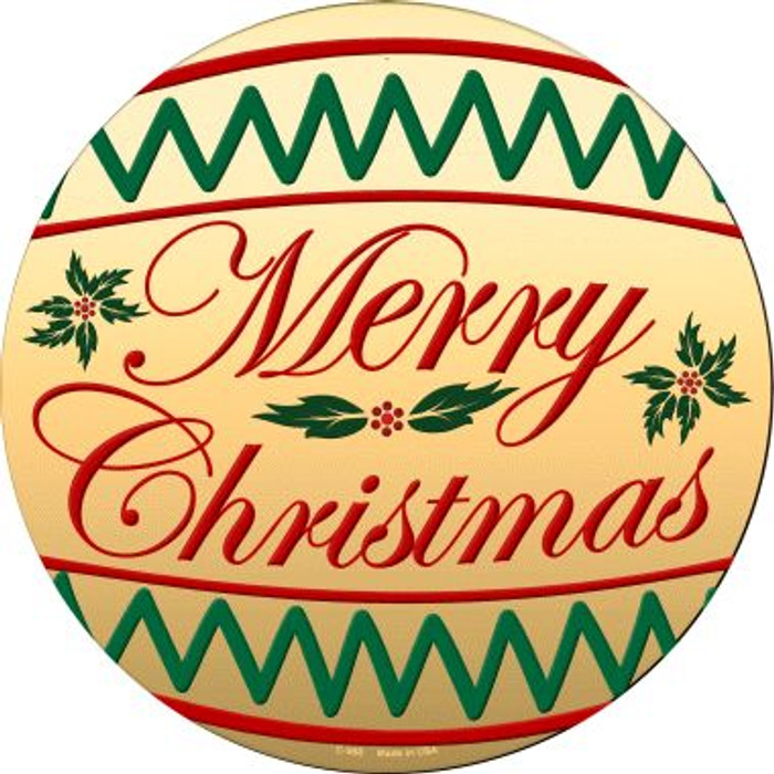 Merry Christmas Wholesale Novelty Metal Circular Sign