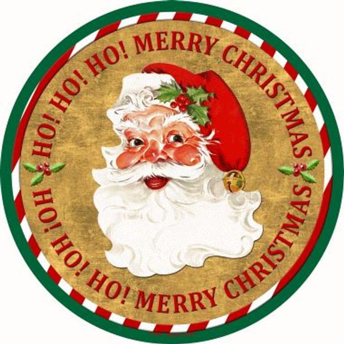 Ho Ho Ho Santa Wholesale Novelty Metal Circular Sign C-570