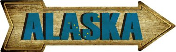 Alaska Wholesale Novelty Metal Arrow Sign