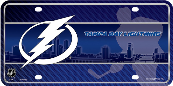 Tampa Bay Lightning Wholesale Metal Novelty License Plate