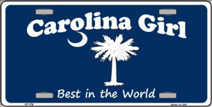 Carolina Girl Blue Wholesale Metal Novelty License Plate LP-179