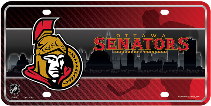 Ottawa Senators Wholesale Metal Novelty License Plate LP-5570