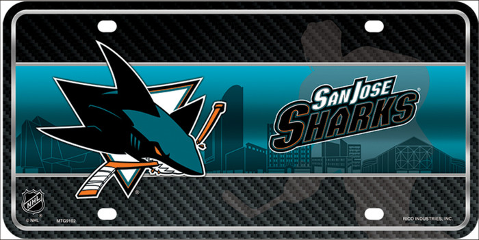 San Jose Sharks Wholesale Metal Novelty License Plate