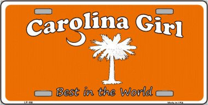Carolina Girl Orange Wholesale Metal Novelty License Plate LP-180