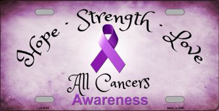 All Cancer Awareness Novelty Wholesale Metal License Plate