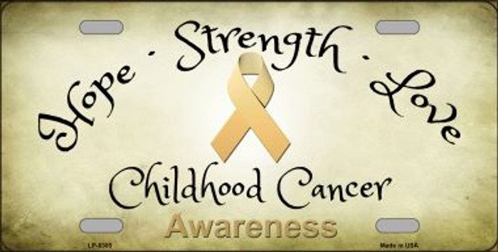 Childhood Cancer Ribbon Novelty Wholesale Metal License Plate