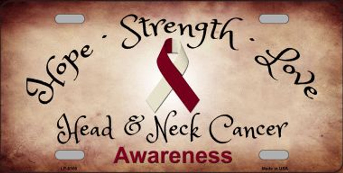 Head and Neck Cancer Ribbon Novelty Wholesale Metal License Plate