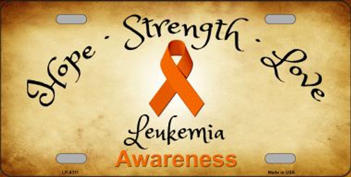 Leukemia Cancer Ribbon Novelty Wholesale Metal License Plate