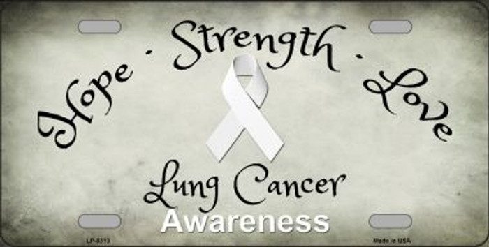 Lung Cancer Ribbon Novelty Wholesale Metal License Plate