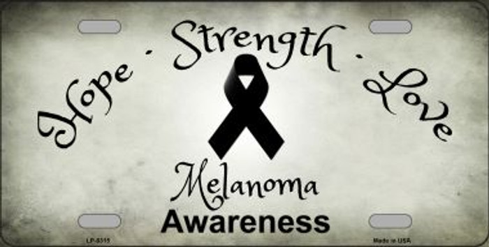 Melanoma Cancer Ribbon Novelty Wholesale Metal License Plate
