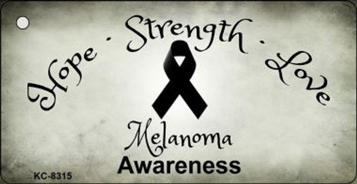 Melanoma Cancer Ribbon Wholesale Novelty Key Chain