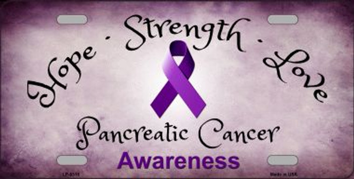 Pancreatic Ribbon Novelty Wholesale Metal License Plate LP-8318