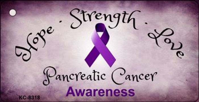 Pancreatic Cancer Ribbon Wholesale Novelty Key Chain