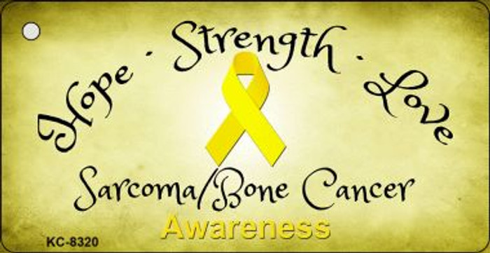 Sarcoma Bone Cancer Ribbon Wholesale Novelty Key Chain