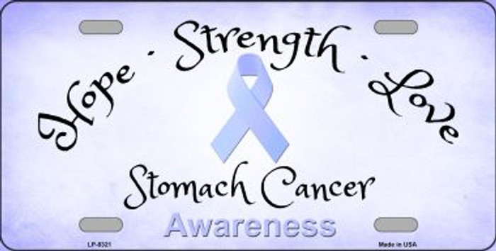 Stomach Cancer Ribbon Novelty Wholesale Metal License Plate