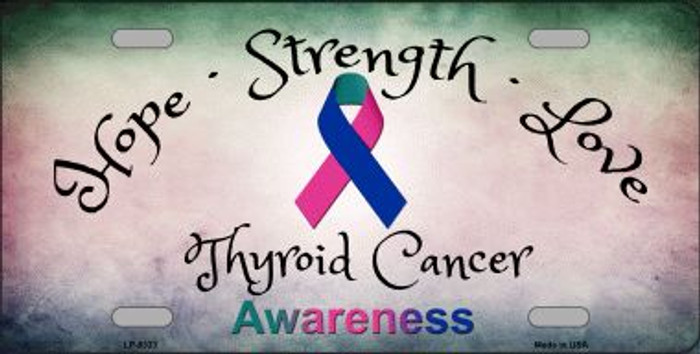Thyroid Cancer Ribbon Novelty Wholesale Metal License Plate