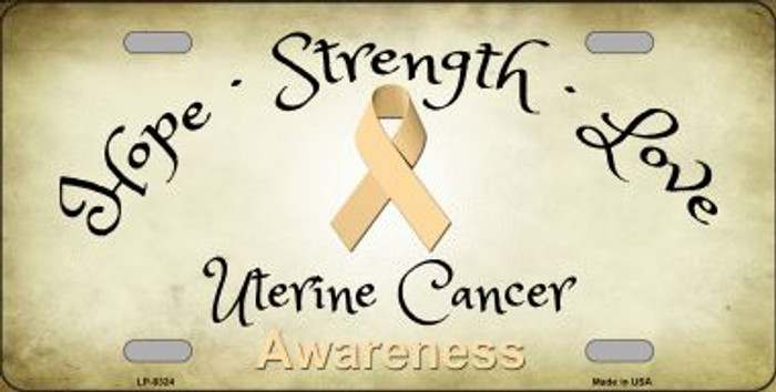 Uterine Cancer Ribbon Novelty Wholesale Metal License Plate