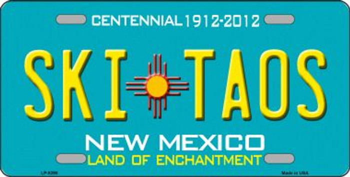 Ski Taos Teal New Mexico Novelty Wholesale License Plate