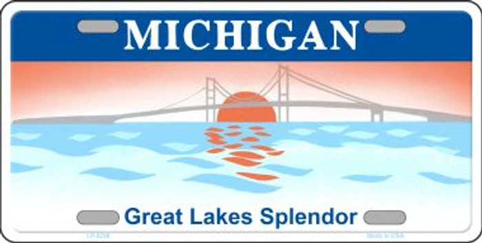 Michigan Background Novelty Wholesale Metal License Plate