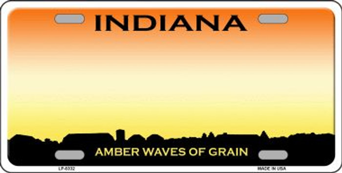 Indiana Background Novelty Wholesale Metal License Plate
