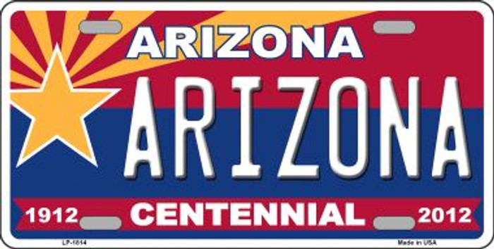 Arizona Centennial Arizona Wholesale Metal Novelty License Plate LP-1814