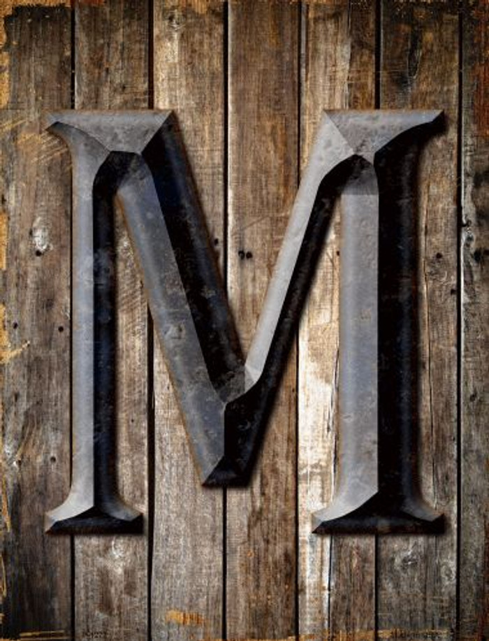 Letter M Wholesale Novelty Metal Parking Sign