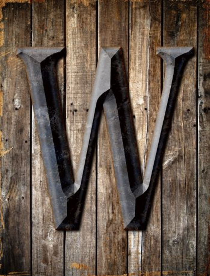 Letter W Wholesale Metal Novelty Parking Sign