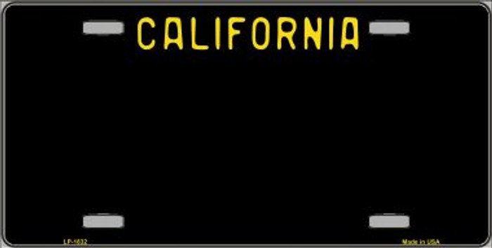California Black Novelty State Background Wholesale Metal License Plate LP-1832