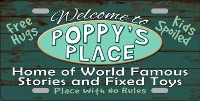 Poppys Place Wholesale Metal Novelty License Plate