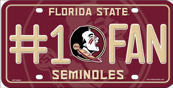 Florida State Seminoles Fan Novelty Wholesale Metal License Plate LP-5580