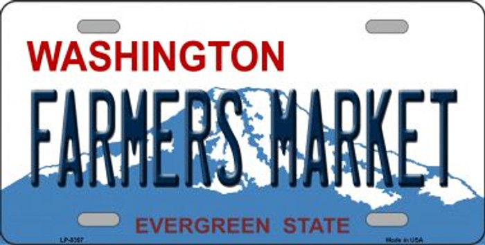 Farmers Market Washington Wholesale Metal Novelty License Plate