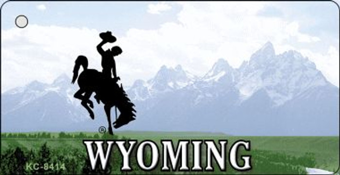 Wyoming State Background Wholesale Novelty Key Chain