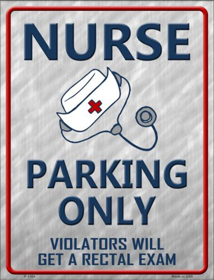 Nurse Parking Only Wholesale Metal Novelty Parking Sign
