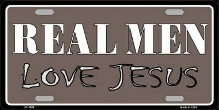 Real Men Love Jesus Wholesale Metal Novelty License Plate