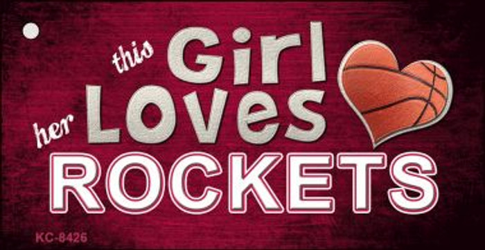 This Girl Loves Her Rockets Wholesale Novelty Key Chain