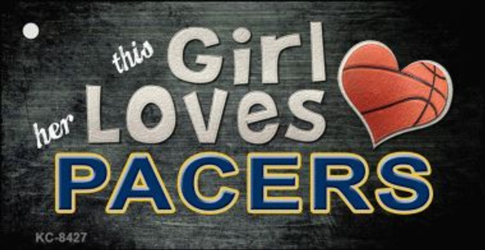 This Girl Loves Her Pacers Wholesale Novelty Key Chain