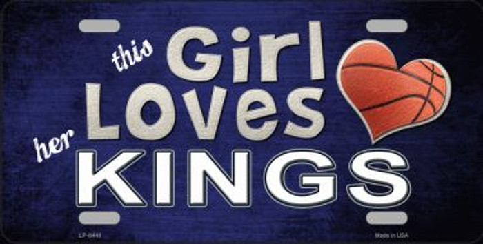 This Girl Loves Her Kings Novelty Wholesale Metal License Plate