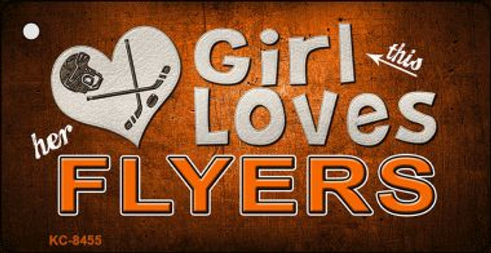 This Girl Loves Her Flyers Wholesale Novelty Key Chain