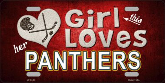 This Girl Loves Her Panthers Novelty Wholesale Metal License Plate