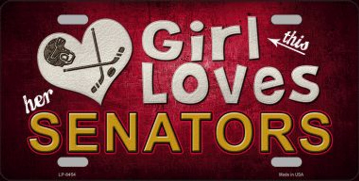 This Girl Loves Her Senators Novelty Wholesale Metal License Plate